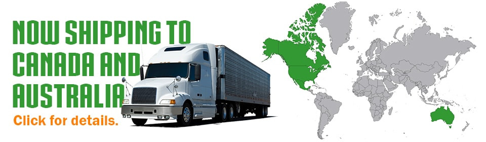 Internation shipping to Canada and Australia now available!
